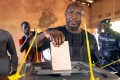Evariste Ndayishimiye of the Burundi's ruling party casts his ballot at a polling centre in Gitega, Burundi on Wednesday. Photo: Reuters