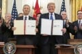 As part of the phase one trade deal signed in January, China agreed to buy an additional US$200 billion of American goods and services over the following two years, including around US$32 billion in agricultural goods. Photo: EPA-EFE