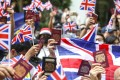 Activists call on London to grant full citizenship to British National (Overseas) passport holders during a march on the British consulate in Hong Kong in September last year. Photo: Nora Tam