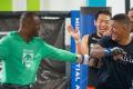 UFC welterweight champion Kamaru Usman (left) jokes with sparring partner and potential future opponent Gilbert Burns last year. Photo: Instagram / Kamaru Usman