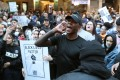 UFC middleweight champion Israel Adesanya joins roughly 4,000 New Zealand protesters demonstrating against the killing of Minneapolis man George Floyd in a Black Lives Matter protest in Auckland in June. (Photo: AFP