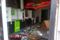 UFC fighter Belal Muhammad's father returns to his Chicago shop after it has been looted and vandalised amid the Black Lives Matter protests happening around the US. Photo: Twitter / Belal Muhammad