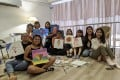 Nicole Lim, host of the Singaporean podcast Something Private, with some of her listeners at a gathering she hosted for International Women's Day in March 2020. Photo: courtesy Nicole Lim