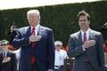 US President Donald Trump with Defence Secretary Mark Esper (R). Photo: AP