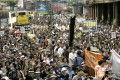 Protesters rally in Causeway Bay against national security legislation under Article 23 of the Basic Law, part of an estimated half a million who peacefully took to the streets on July 1, 2003. The government subsequently shelved the bill. Photo: Dickson Lee