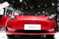 Contemporary Amperex Technology Co Ltd struck a two-year contract in February to supply batteries to Tesla, which produces its Model 3 electric cars at the company's new Gigafactory in Shanghai. Photo: Xinhua