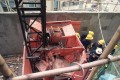 The wreckage of the crushed lift at a construction site in Quarry Bay, Hong Kong, in 1993. Photo: SCMP