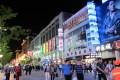 A night view of Wangfujiang street in Beijing. Photo: Yvonne Liu
