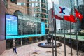 View of the HKEX flag at the Exchange Square in Central. Photo: Winson Wong