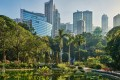 Hong Kong Park in Central, Hong Kong. The virus restrictions that shut down much of the city have kindled an appreciation of its parks and public spaces – but more could be done to increase the number of trees in the city. Photo: Getty Images