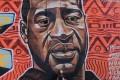 Graffiti in memory of George Floyd painted on a wall in the Kibera slums in Nairobi, Kenya. Photo: EPA-EFE