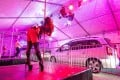 Strippers observing social distancing rules perform for drivers at a drive-through strip show in southern Germany. Photo: DPA