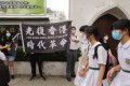 Organisers of an unofficial referendum with secondary school pupils as the electorate have been accused of 'using' young people in their political campaign. Photo: Sam Tsang