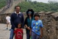 Indian national Vivek Gupta and his family at the Great Wall of China. Photo: Handout / Rajni George