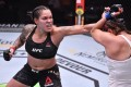 Amanda Nunes punches Felicia Spencer in their UFC featherweight championship bout during UFC 250. Photo: USA TODAY Sports