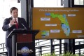 Florida Governor Ron DeSantis speaks at a news conference at Universal Studios in Orlanda, Florida, on June 3. Photo: AP