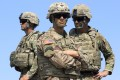 US soldiers in the Nato-led Noble Partner 2017 multinational military exercises outside Tbilisi, Georgia. File photo: AP