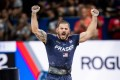 Mat Fraser, four times winner of the CrossFit Games, celebrates another event victory in 2019. Photo: Michael Valentin