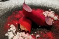 Beetroot carpaccio with crab meat and hazelnut snow at Tirpse in K11 Musea. Photo: SCMP