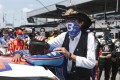 Nascar driver Bubba Wallace is consoled by team owner Richard Petty. Photo: AP