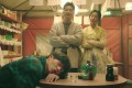 Yook Sung-jae (forefront), Choi Won-young and Hwang Jung-eum in a still from Mystic Pop-Up Bar.