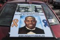 An Ahmaud Arbery poster is seen on a car during a George Floyd demonstration in Chicago, Illinois, on June 4. Photo: EPA-EFE