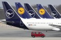 Lufthansa planes grounded by the coronavirus pandemic at the airport in Munich. Photo: AP