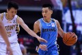 Jeremy Lin of the Beijing Ducks dribbles against the Zhejiang Lions in the resumed 2019-20 Chinese Basketball Association league in Qingdao. Photo: Xinhua