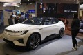 Byton's electric sport utility vehicle, the M-Byte, is seen at the start-up's booth during the CES trade show in Las Vegas on January 8, 2019. Photo: AP