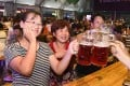 People at a beer-tasting event in China's Shandong province in July 2018. Photo: Xinhua