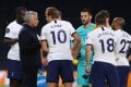 Tottenham manager Jose Mourinho was pleased that two of his players rowed during their win over Everton. Photo: EPA