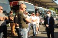 Bus drivers meet French Junior Transport Minister Jean-Baptise Djebbari on July 7, 2020. Photo: Agence France-Presse
