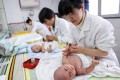 Nationwide, new births in China dropped 3.8 per cent to 14.65 million last year, the lowest birth rate since 1961. Photo: AFP