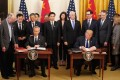 The United States and China signed their phase one trade deal in January. Photo: Xinhua