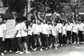 Students protest outside Government House in 1967. Photo: SCMP