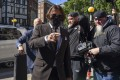 Johnny Depp arrives at the High Court in London on Friday. Photo: AP