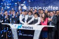 Luckin Coffee's team in New York during the company's trading debut on the Nasdaq on May 16, 2019. Photo: finance.china.com.cn