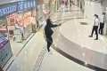 A still from video of the robbery last month. Photo: SCMP Pictures