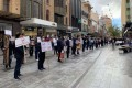 Asian-Australians hold an anti-racism protest in Adelaide, South Australia. Photo: Facebook