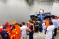 Emergency workers attend the scene of a fatal bus crash in Anshan, Guizhou province, on Tuesday. Photo: Weibo