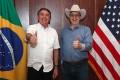 Brazilian President Jair Bolsonaro (left) with US ambassador to Brazil Todd Chapman, at July 4 celebrations. Photo: AFP