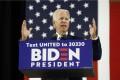 Democratic presidential candidate Joe Biden speaks at Alexis Dupont High School in Wilmington, Delaware on June 30. Photo: AP