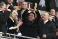 Birmingham City's owner, Hong Kong businessman Carson Yeung (C) celebrates at the end of the 2011 Carling Cup final. Photo: AFP