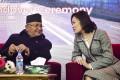 Prime Minister of Nepal KP Sharma Oli and Chinese ambassador Hou Yanqi. Photo: NurPhoto