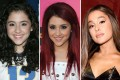 The transformation of Ariana Grande: pictured in 2008, 2010 and 2018. Photos: Getty