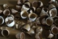 Some of Yu Ciqiong's porcelain wares after the floodwaters receded. Photo: Tom Wang