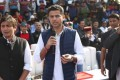 Sachin Pilot, former deputy chief minister of Rajasthan (centre), pictured at an event in March. Photo: Facebook