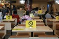 Even offering discounts was unable to stop Hong Kong restaurant revenues from plummeting as new Covid-19 regulations banned dining in after 6pm from last Wednesday. Photo: May Tse