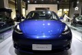 A China-made Tesla Model 3 electric vehicle is seen at a car show in Guangzhou, capital of southern Guangdong province. Photo: Reuters