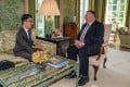 Nathan Law (left) with Mike Pompeo at Winfield House, the British residence of the US ambassador in London. Photo: Facebook